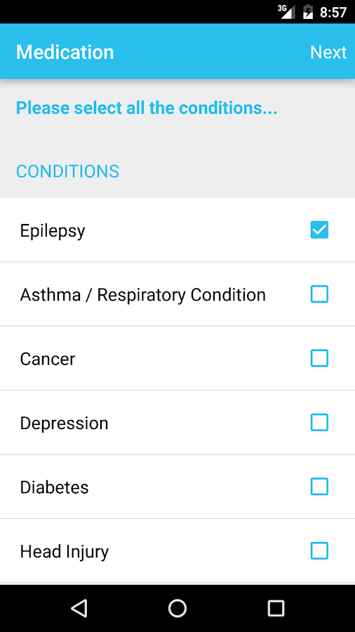 EpSMon - Epilepsy Self Monitor- screenshot