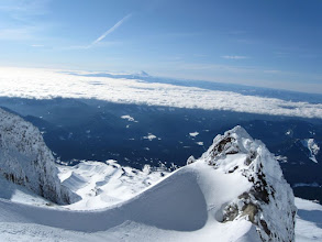 """Photo: Crater Rock, Mt Jefferson and the """"Sisters"""" in the far horizon"""