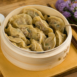 Pork and Purple Flower Chive Dumplings -- Daring Cooks