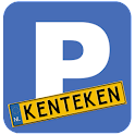 Visitors parking License plate icon