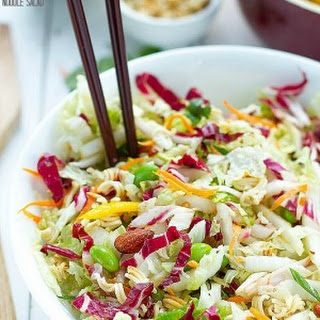 Sriracha Crunchy Asian Ramen Noodle Salad.