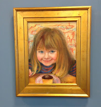 """Photo: """"Oh Boy"""" Oil painting by Sydelle Sher Art exhibition at Weissman Center"""