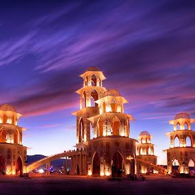 The Temple at Sunset by Cliff Baise - Buildings & Architecture Other Exteriors