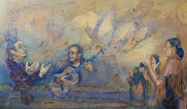 Photo: 5. Cante y toque (2009). 73 x 122 cm. Mixta sobre tabla