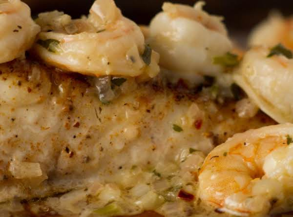 Orange Baked Fish And Shrimp