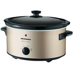 Slow Cooker Heinner HSCK-C35CR, 3.5 L, 135 W, 2 setari temperatura, Auriu