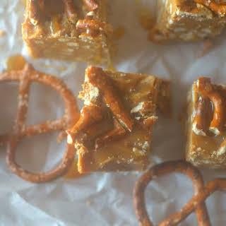 Peanut Butter Pretzel Caramel Fudge.