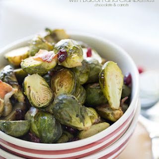 Brussel Sprouts with Bacon and Cranberries