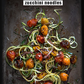 Balsamic Roasted Tomato Zucchini Noodles