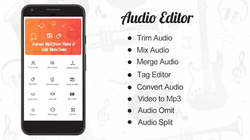 Audio Editor : Cut,Merge,Mix Extract Convert Audio 1.17 screenshots 1