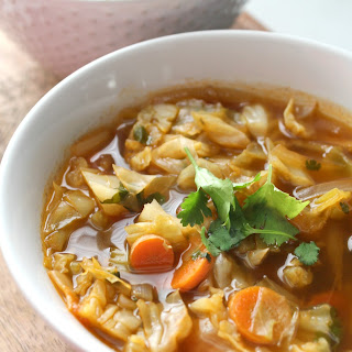 Spicy Cabbage Detox Soup.