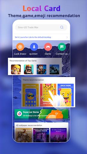 U Launcher Lite-New 3D Launcher 2020, Hide apps 2.2.27 screenshots 3
