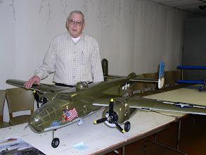 Photo: Ken and his B-25 Mitchell