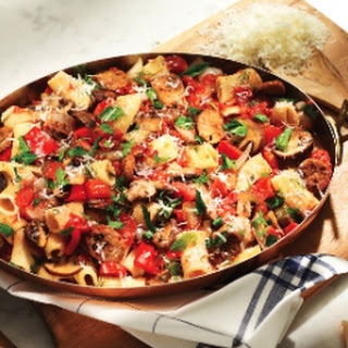 Italian Sausage, Red Pepper and Mushroom Rigatoni