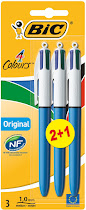 Bic 4 Colours Pen - 3 Pack