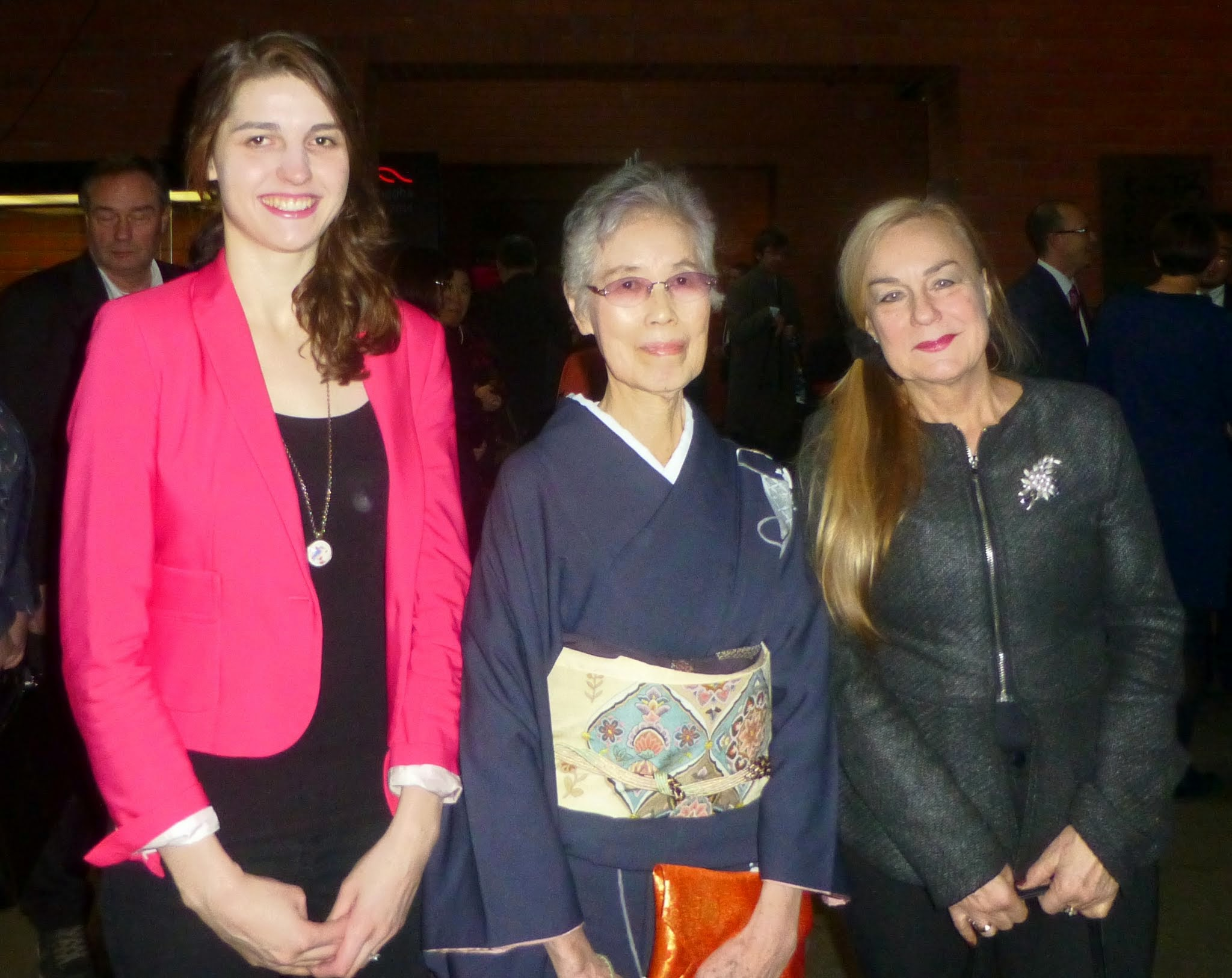 Photo: Z Panią Midori Suzuki - mistrzynią sztuki przeplotu jedwabnych nici (kumihimo)