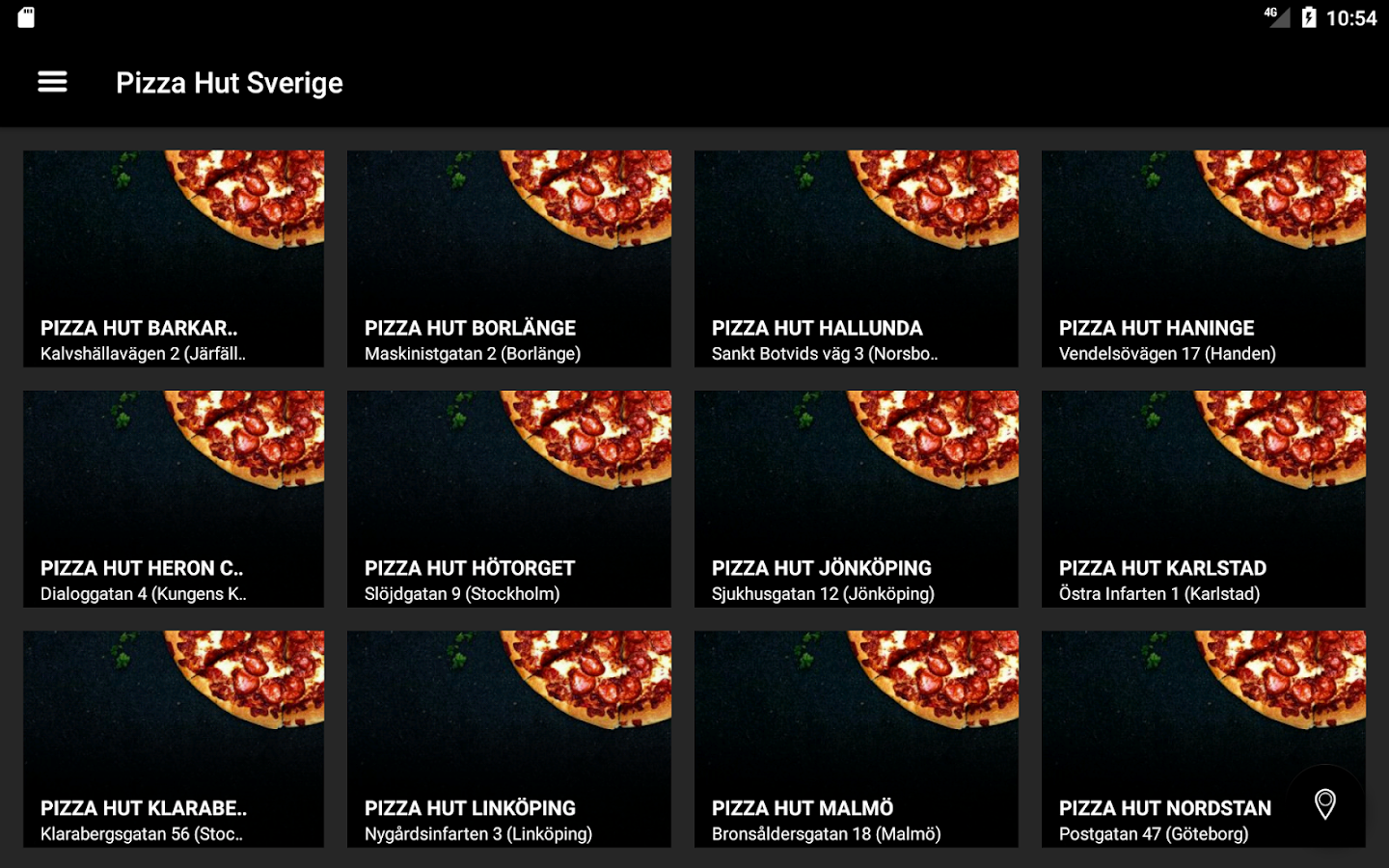 Pizza Hut Sverige- screenshot