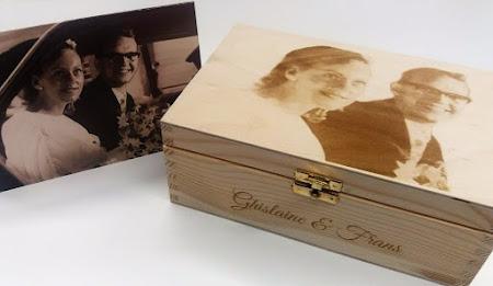 Huwelijk - doosje met foto van jubilarissen