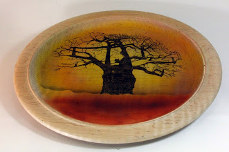 "Photo: Ed Karch 15"" platter [maple]"
