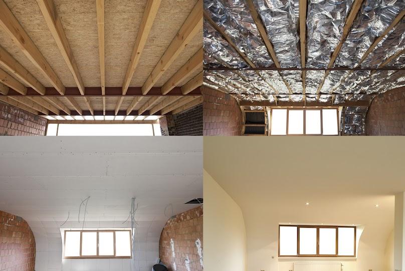 Izolacja stropu domu szkieletowego