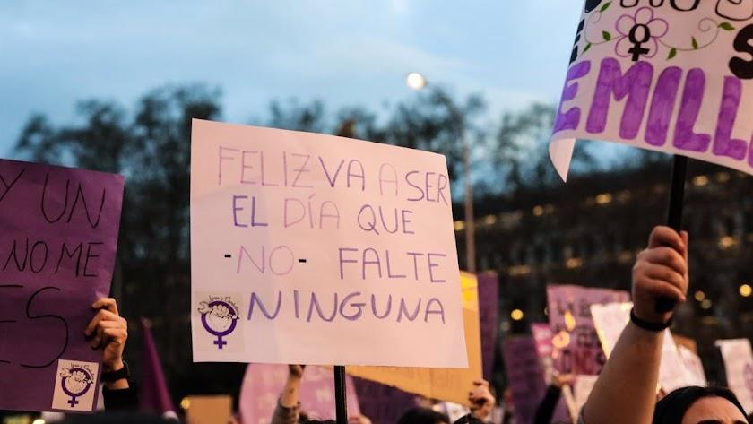 Imagen de archivo de una manifestación por el Día de la Mujer.
