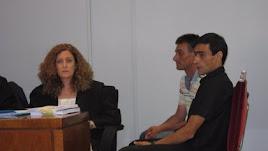 El asesino de Rosa Galera durante el juicio.