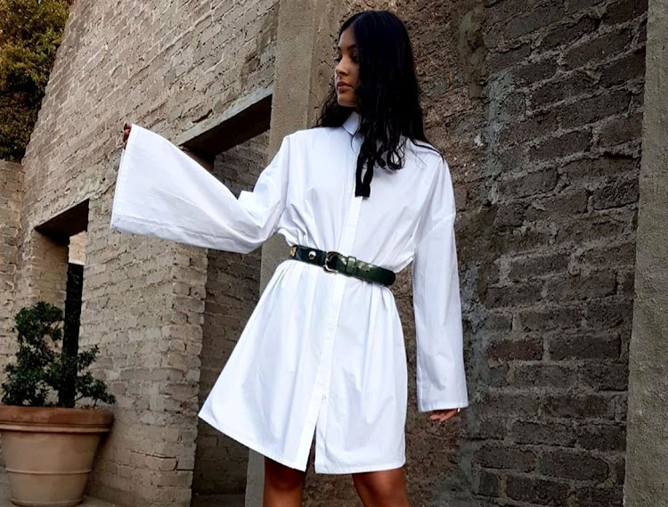 A shirt dress from the SiSi White Shirt collection