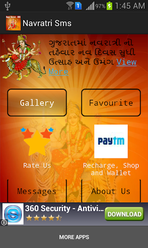 Happy Navratri Greetings Sms