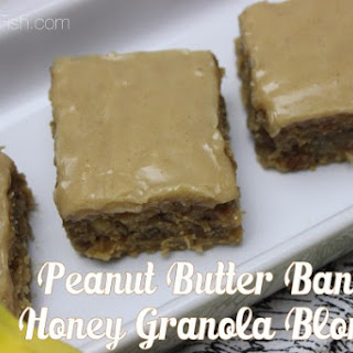 Peanut Butter Banana Honey Granola Blondies