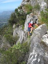 Photo: Step up onto the traverse ledge