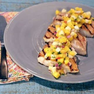 Grilled Grouper with Key Lime Mango Salsa.