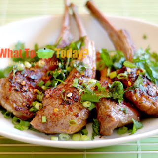 BARBECUED LAMB CHOPS/ 燒 烤羊 排 (12-rib lamb chop).
