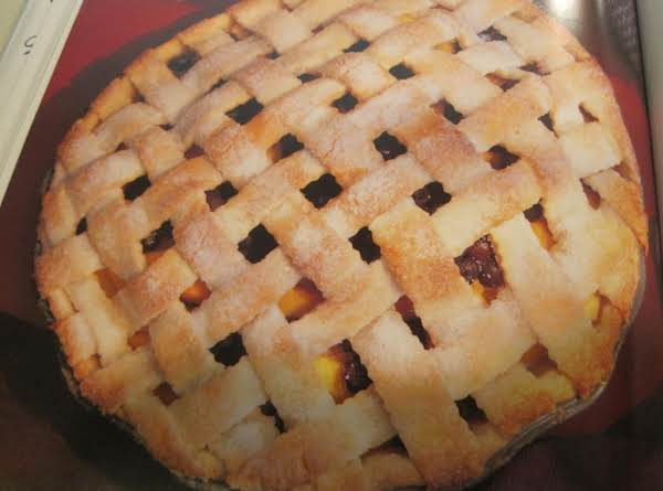 Fresh Peach & Blueberry Pie By Rose
