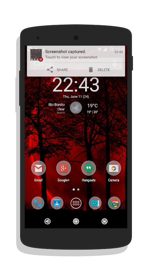 NotOnlyRed theme CM12.0/12.1 - screenshot