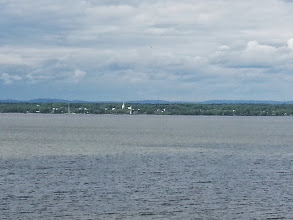 Photo: St Lawrence river, you can still see over it at this point, later the far shore is beyond the horizon.