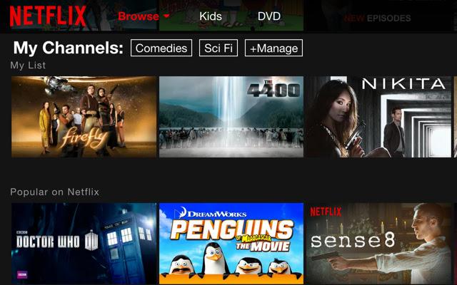 Channels for Netflix