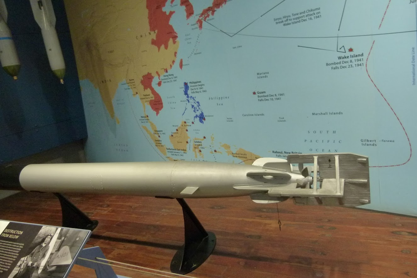 Model of Japanese torpedo