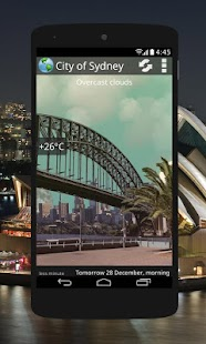 Animated Weather Widget&Clock- screenshot thumbnail