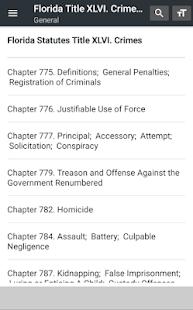 Florida Crimes 2019 (Title XLVI) (free offline) - náhled