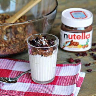Greek Yogurt with Homemade Granola and Nutella®