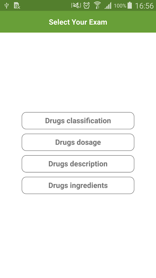Drugs classification & dosage- screenshot