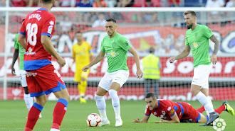 Aguza en el Numancia-Almería de la pasada Liga.