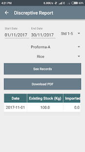 Mid Day Meal (MDM) PDF Reports and Calculator - náhled