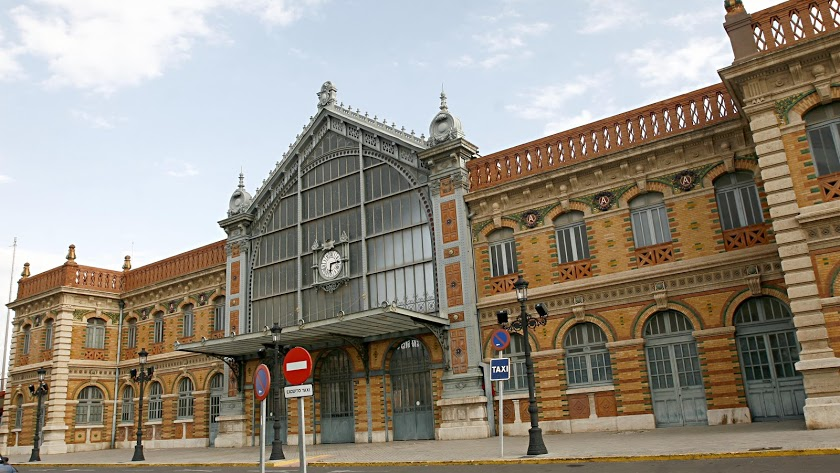 Antigua estación de ferrocarril de la capital.