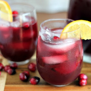 Cranberry Red Wine Sangria.