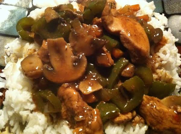 Chicken W/grn Peppers In Black Bean Sauce Recipe