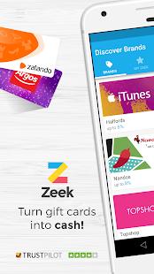 Zeek: Gift Voucher Marketplace - náhled