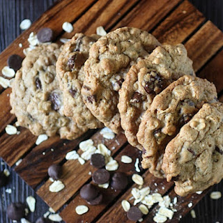 Crunchy Oatmeal Chocolate Chip Cookies.