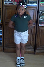 Photo: Today history was made! Kaleya decided she wanted to wear shorts to school :-) this girl wears nothing but dresses and skirts! 5/10/11