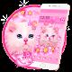 Cute Pink Kitty Cat Theme apk